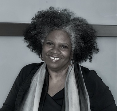headshot of playwright Cheryl L. West