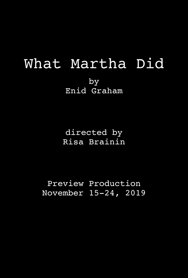 Temporary Placeholder image for Poster for What Martha Did with name and dates